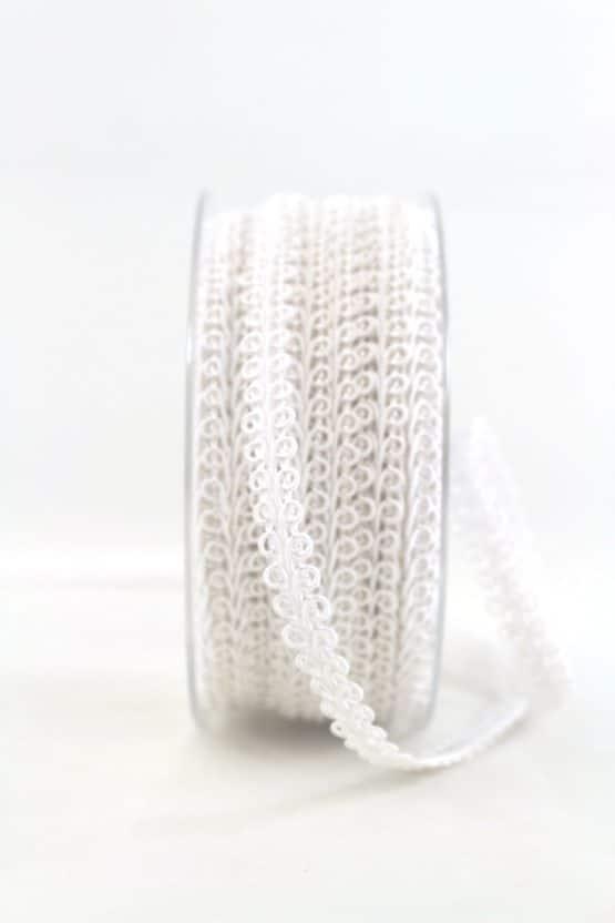 Zierlitze weiß, 9 mm breit - hochzeitsbaender