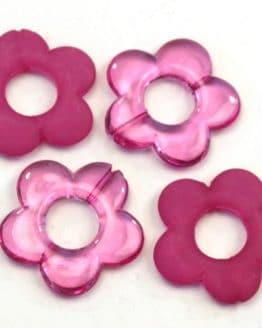 Streublüten aus Kunststoff, groß, pink, 12 St. Pack - streuartikel, hochzeitsaccessoires