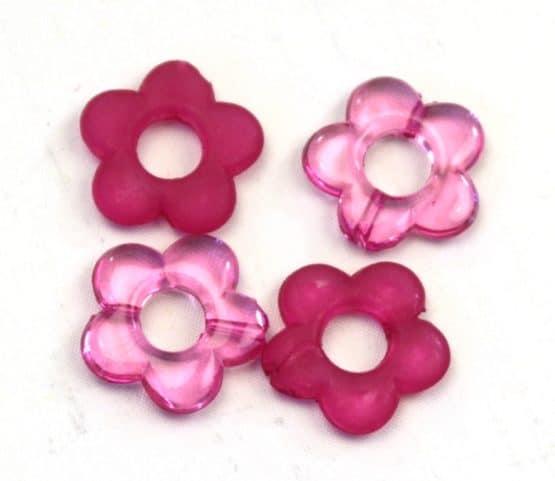 Streublüten aus Kunststoff, pink, 24 St. Pack - streuartikel, hochzeitsaccessoires