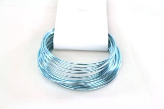 Aludraht Hobbydraht, blau, 1,5  mm breit, 3 m Rolle - corona-pandemiebedarf, aludraht