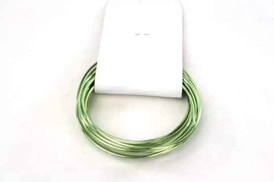Aludraht Hobbydraht, grün, 1,5  mm breit, 3 m Rolle - corona-pandemiebedarf, aludraht