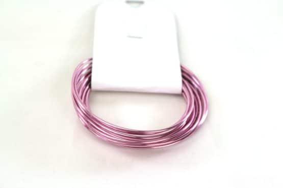 Aludraht Hobbydraht, rosa, 1,5  mm breit, 3 m Rolle - corona-pandemiebedarf, aludraht