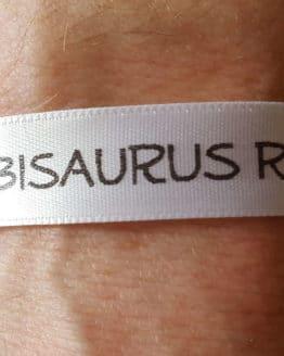 Personalisiertes, bedrucktes Stoff-Armband / Festivalbändchen, 10 oder 15 mm breit, fertig geschnitten - verschluss, individuelles-band, armbaender