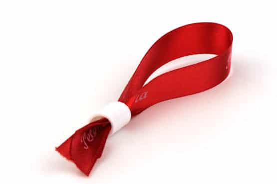 Verschluss für Armbänder aus Satinband, weiß - verschluss, armbaender