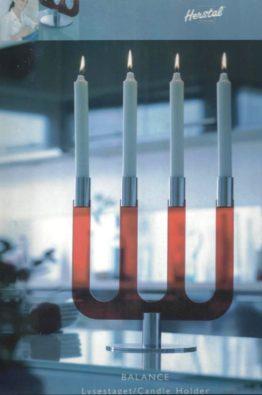 Balance Kerzenleuchter rot 40033316102