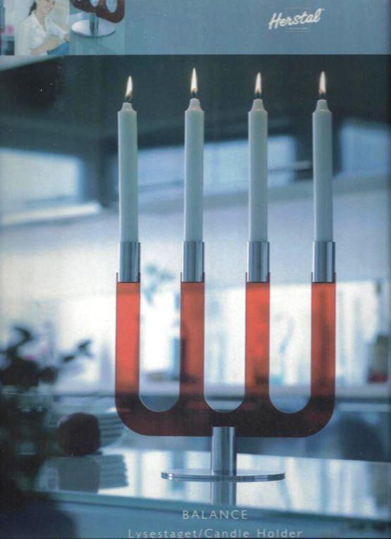 Kerzenleuchter BALANCE rot von HERSTAL - geschenke