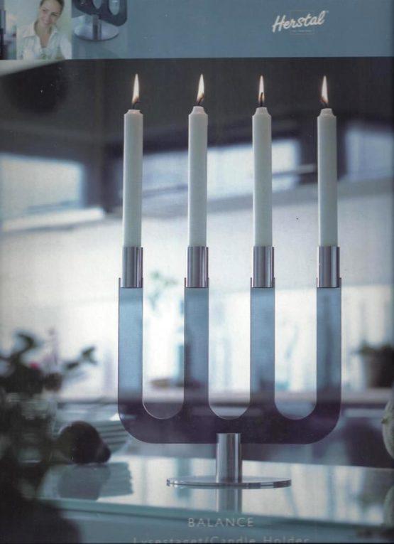 Kerzenleuchter BALANCE grau von HERSTAL - geschenke
