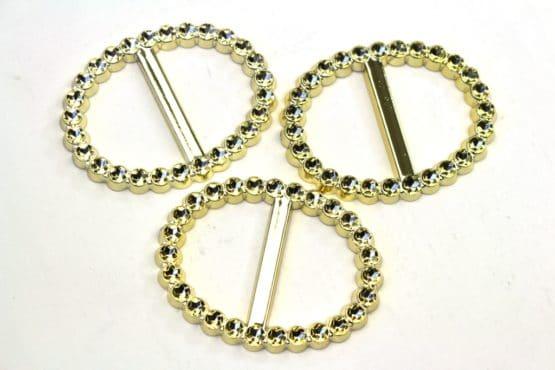 Brosche für Deko, gold, 6,2 x 4,9 cm, 9 St. Pack - hochzeitsaccessoires