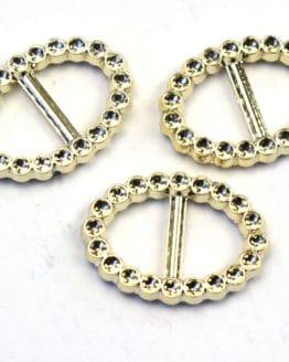 Brosche für Deko, gold, 3,3 x 2,4 cm, 12 St. Pack - hochzeitsaccessoires