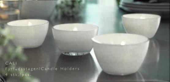 Teelichthalter CALI weiß von Herstal, 4er Set - geschenke