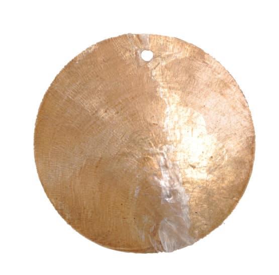 Runde Namenskarten/Dekoanhänger Perlmutt, schokolade, 4 cm, 6 St. - hochzeitsaccessoires