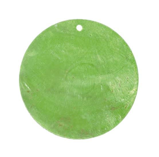 Runde Namenskarten/Dekoanhänger Perlmutt, grün, 4 cm, 6 St. - hochzeitsaccessoires
