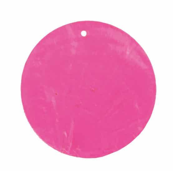 Runde Namenskarten/Dekoanhänger Perlmutt, pink, 4 cm, 6 St. - hochzeitsaccessoires
