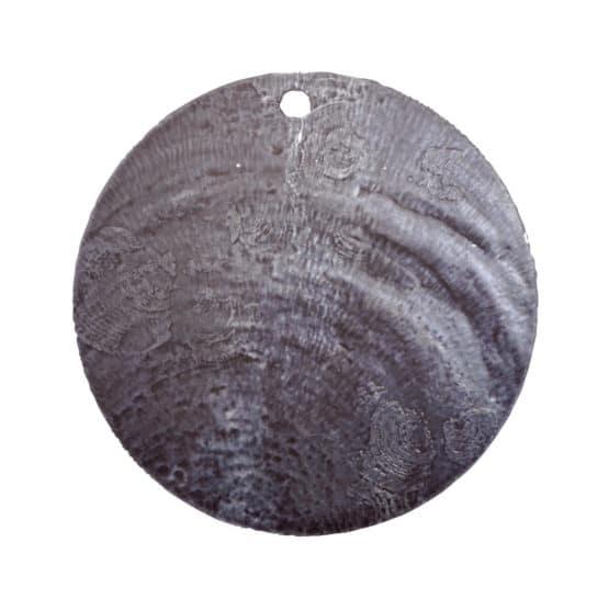 Runde Namenskarten/Dekoanhänger Perlmutt, schwarz, 4 cm, 6 St. - hochzeitsaccessoires