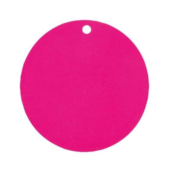 Runde Namenskarten / Dekoanhänger pink, 10 St. - hochzeitsaccessoires