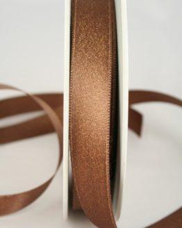 Glitzerndes Satinband braun-gold, 15 mm breit - weihnachtsband, satinband