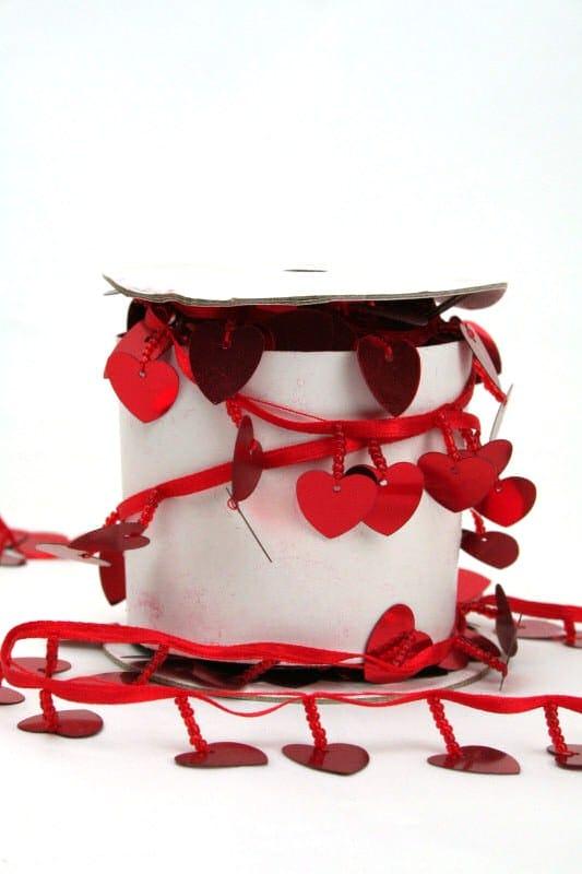 Girlande mit roten Herzen - hochzeitsbaender, girlande, valentinstag, muttertag