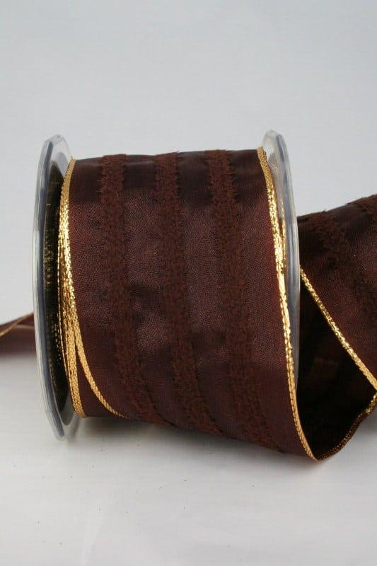 Breites Dekoband braun, 65 mm breit - weihnachtsband