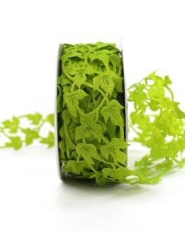 Efeuband aus Filz, grün, 40 mm breit - hochzeitsbaender