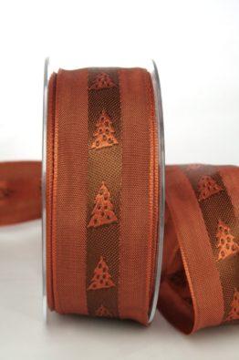 Dekoband Weihnachtsbaum braun 40mm (70140-40-430)