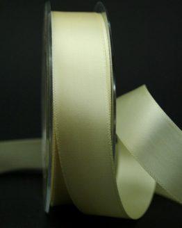 Doppelsatinband creme, 25 mm breit - hochzeitsbaender