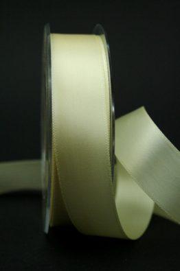 Doppel-Satinband creme 25mm (22010-25-420)