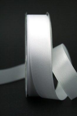 Doppel-Satinband weiß 25mm (22010-25-700)