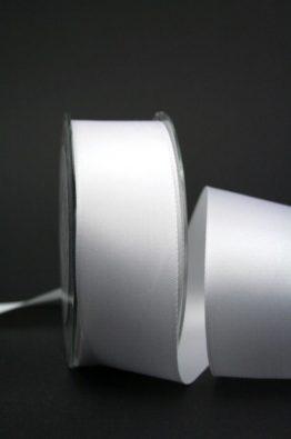 Doppelsatinband weiß 40mm (22010-40-700)