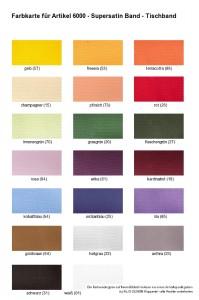 Farben 6000 Supersatin Tischband - 1