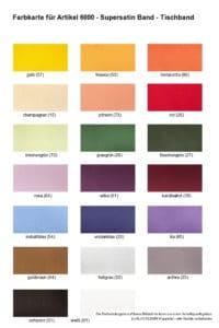Farben 6000 Supersatin Tischband - 1 -