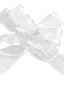 Fertigschleife Organzaband weiss 2826_1_blanc