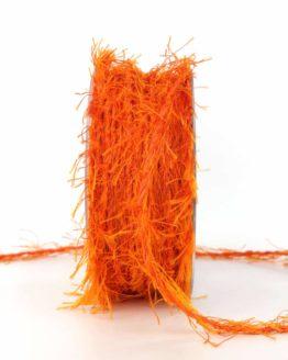 Fransenkordel, orange, 3 mm stark - zierkordeln, andere-baender