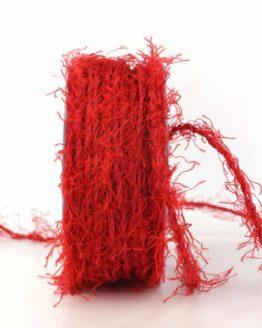 Fransenkordel, rot, 3 mm stark - zierkordeln, andere-baender