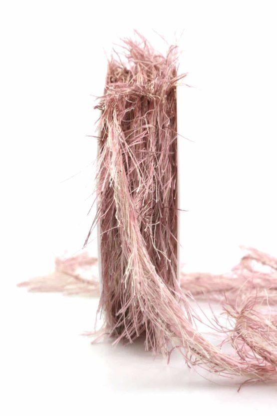 Fransenkordel, altrosa, 2 mm stark - zierkordeln, andere-baenderkordeln, andere-baender