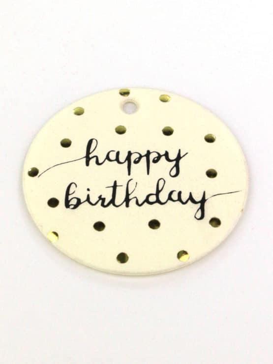Geschenkanhänger Happy Birthday, 16 Stück Beutel - streuartikel, andere-baender