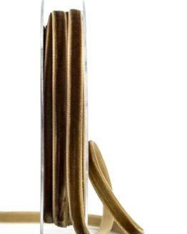Samtband, braun, 6 mm breit - schleifenband-hochzeit, samtbaender, geschenkbaender, geschenkband-fuer-anlaesse, anlaesse-geschenkband-fuer-anlaesse
