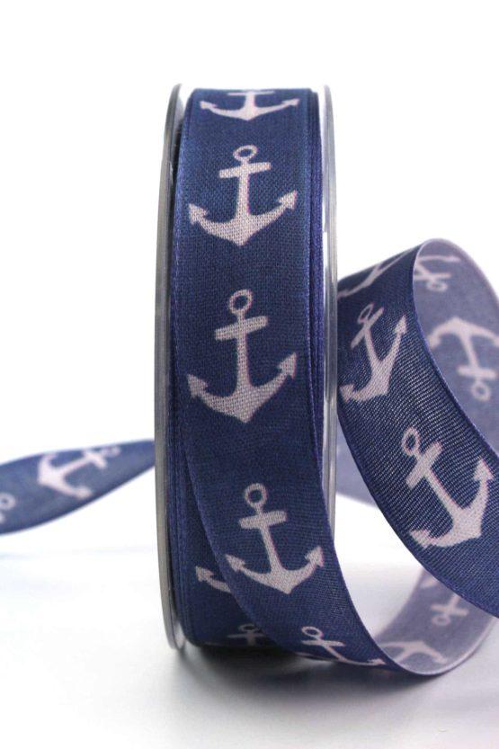 Dekoband Anker, 25 mm breit - gemusterte-bander, dekobaender, bedrucktes-satinband, bedruckte-everyday-bander