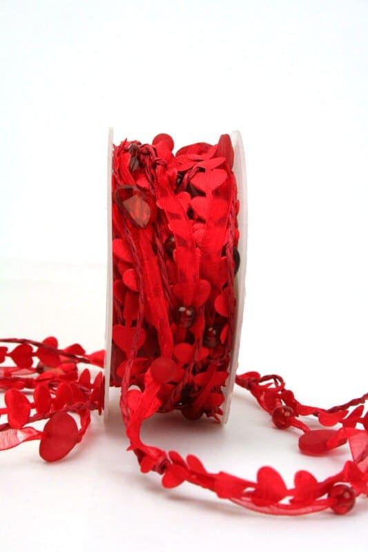3fache Girlande mit roten Herzen - hochzeitsbaender, girlande, valentinstag, muttertag