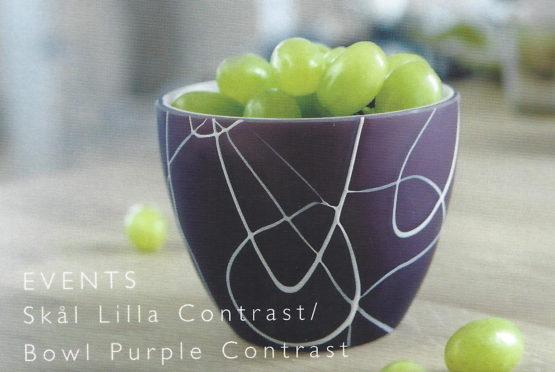 Glasschale Events lila von Herstal - geschenke