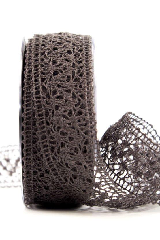 Häkelspitze, taupe, 38 mm breit - spitzenbaender