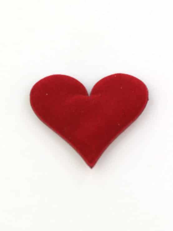 Streuherzen rot, samtig, 32 mm, 25 St. Beutel - streuartikel, hochzeitsaccessoires, valentinstag, muttertag