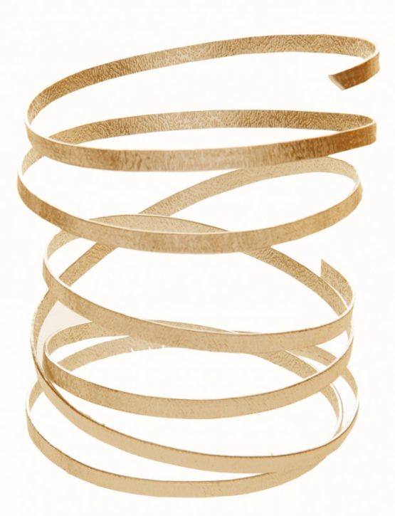 Aludraht Relief-Flachdraht, gold, 5  mm breit, 4 m Rolle - aludraht