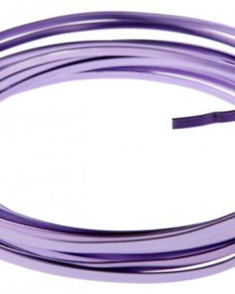 Aludraht Flachdraht, flieder, 4  mm breit, 4 m Rolle - aludraht