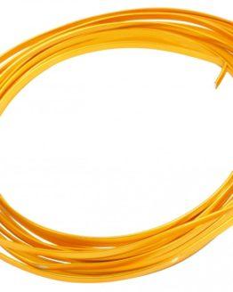 Aludraht Flachdraht, gold, 4  mm breit, 4 m Rolle - aludraht