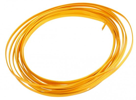 Aludraht Flachdraht, gold, 4  mm breit, 4 m Rolle - corona-pandemiebedarf, aludraht