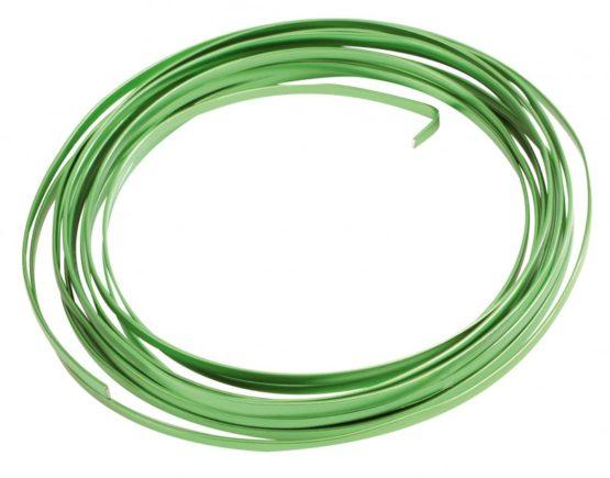 Aludraht Flachdraht, grün, 4  mm breit, 4 m Rolle - corona-pandemiebedarf, aludraht
