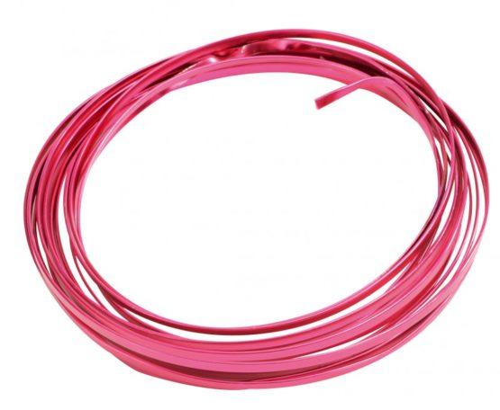 Aludraht Flachdraht, pink, 4  mm breit, 4 m Rolle - aludraht