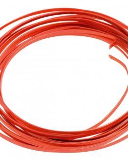Aludraht Flachdraht, rot, 4  mm breit, 4 m Rolle - corona-pandemiebedarf, aludraht