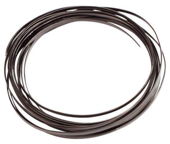 Aludraht Flachdraht, schwarz, 4  mm breit, 4 m Rolle - aludraht
