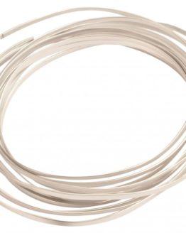 Aludraht Flachdraht, silber, 4  mm breit, 4 m Rolle - aludraht